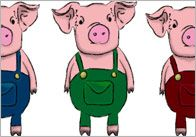 FREE---Three Little Pigs Stick Puppets---A set of beautiful 'three little pig' illustrations, ideal to cut out and use as visual aid stick puppets. They are put together as jpegs in a Microsoft Word file so you could also use them as clip art and incorporate them in to your own designs / resources.