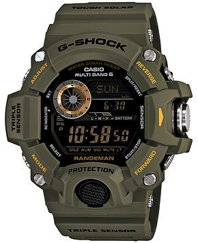 G-Shock Men's Digital Rangeman Green Resin Strap Watch 54x55mm GW9400-3 - Watches - Jewelry & Watches - Macy's
