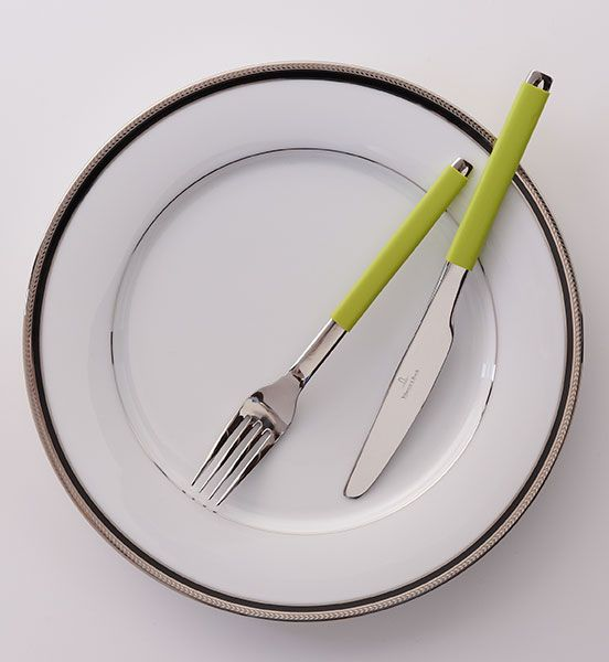 Noritake plate. Villeroy and Boch cutlery