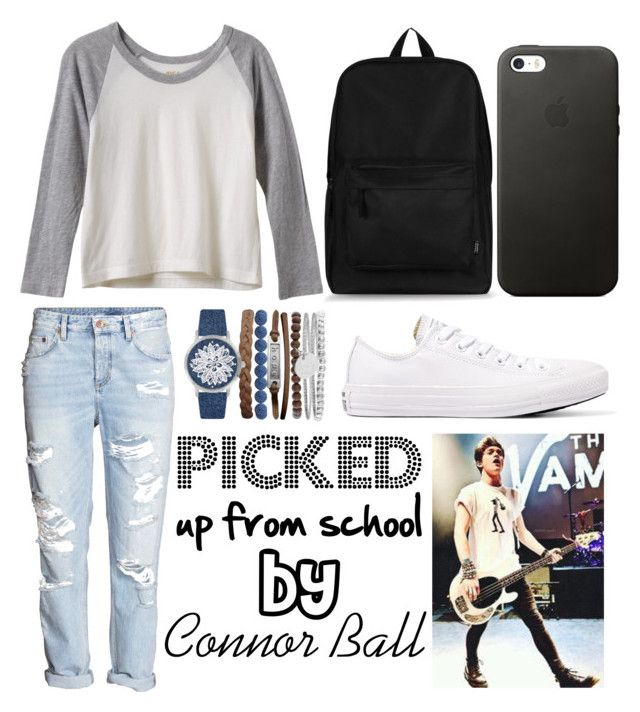 """picked by Connor Ball"" by beatrigitaa on Polyvore featuring RVCA, Converse and Jessica Carlyle"