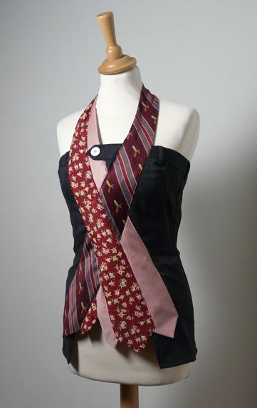 Neck Tie Top- Good idea for Tie Day at school. What other ways can a girl rock a men's neck tie??