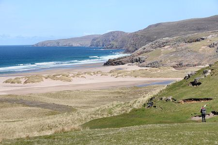Sandwood Bay, Looking North Towards Cape Wrath, Scotland, UK