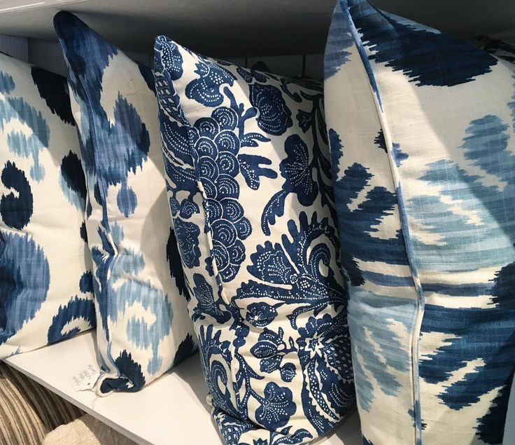 These stunning blue cushions have been custom made exclusively for the Tara Dennis Store. Filled with pure feather inserts, they are just heavenly and perfect for summer decorating! #taradennisstore #wahroonga #summer2017