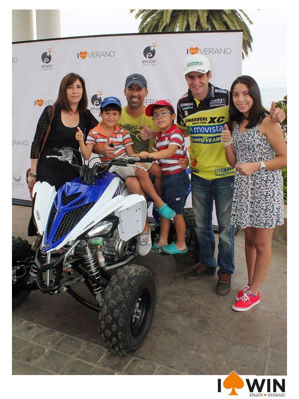 Omar Saldias ganador de la Moto de Ignacio Casale en Enjoy Viña del Mar.