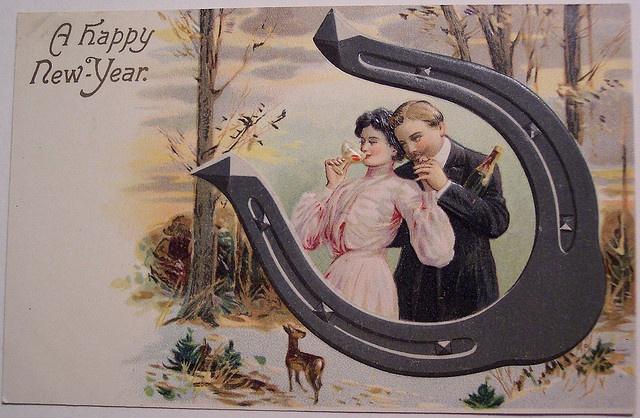Флеш открытки, старинные открытки подкова