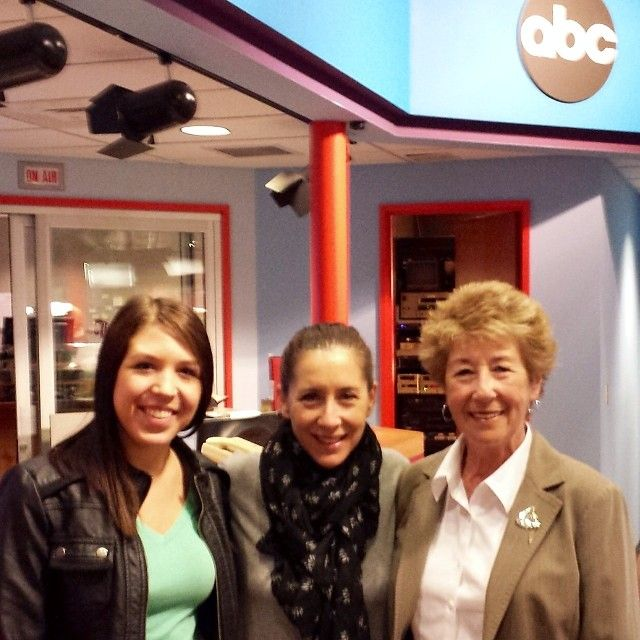 We were blessed to have Ellen Travolta stop by the studio today. Here with daughter Molly Allen and our Social Media guru, Erica Norris.