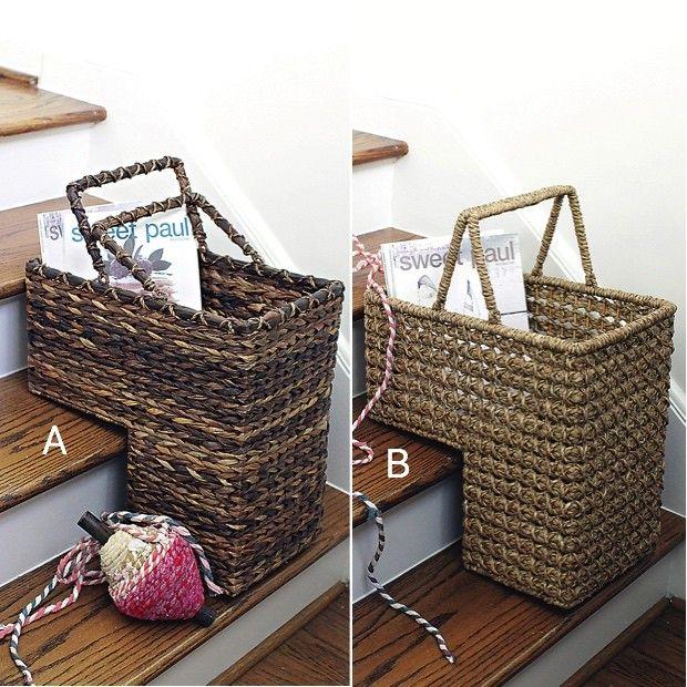 Wicker Stair Baskets