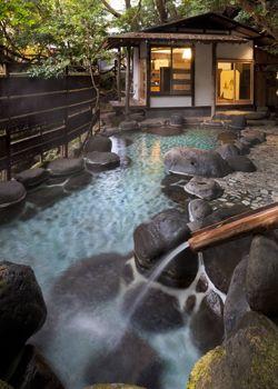 Yoshina hot spring, Shizuoka, Japan