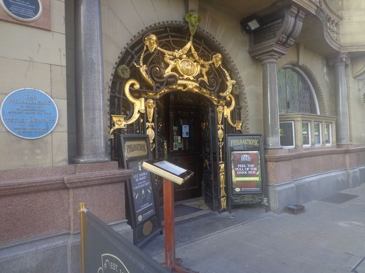 Philharmonic Dining Rooms, Photograph taken of the doorway, Entrance.