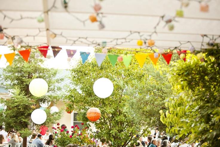 A Backyard Rainbow Wedding: Jason & Gwen: Rainbow Wedding, Rainbows Wedding