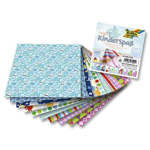 Бумага для оригами 80г/м², KIDS, 10х10см, 50 л. (494/1010) Folia