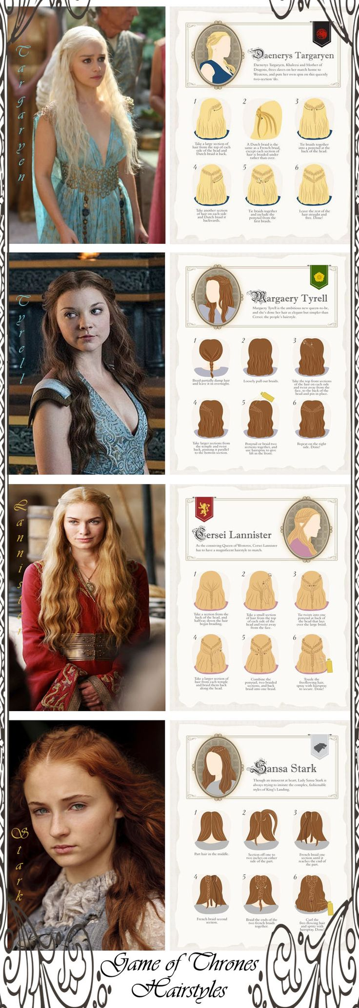 Game of Thrones Hairstyles....I'm just jealous of their hair!!
