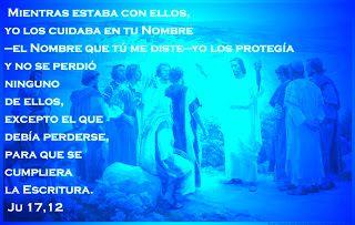 """EVANGELIO DE JUAN: """"LOS CUIDABA"""" Ju 17,12"""