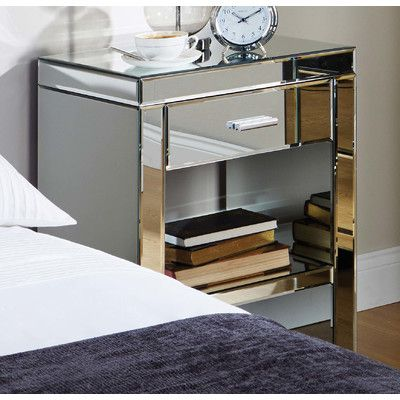 Homestead Living Nachttisch Goroke mit Schublade & Reviews von Homestead Living   Wayfair.de