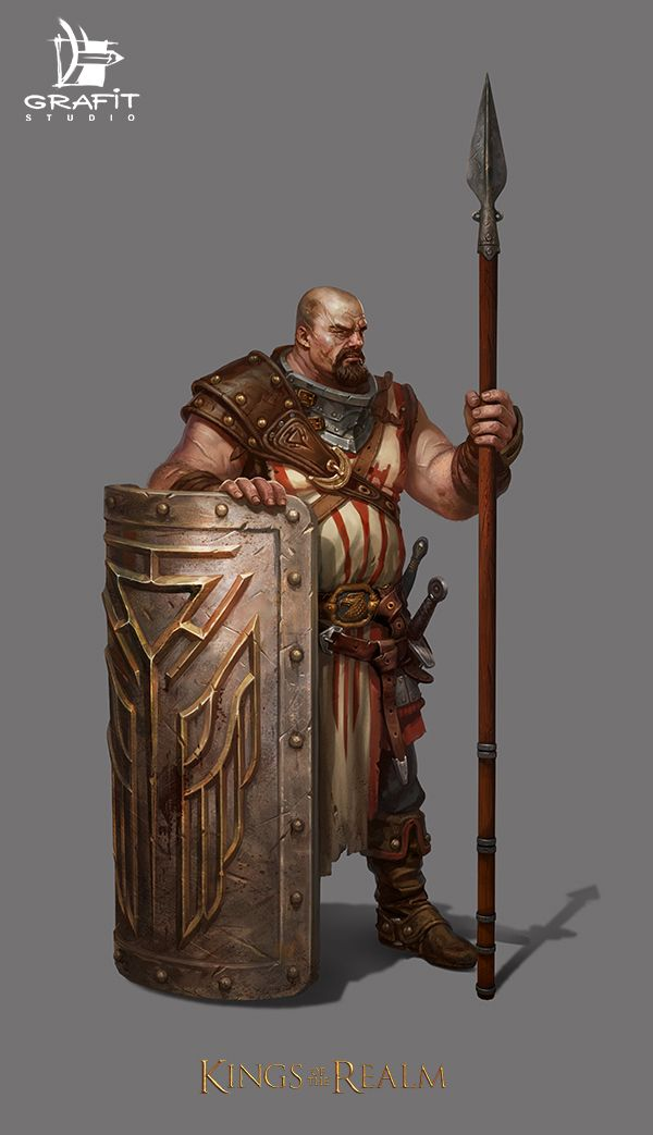 Kings of the realm by Grafit-art fighter spear shield   Create your own roleplaying game books w/ RPG Bard: www.rpgbard.com   Dungeons and Dragons Pathfinder RPG Warhammer 40k Fantasy Star Wars Exalted World of Darkness Dragon Age 13th Age Iron Kingdoms Fate Core Savage Worlds Shadowrun Call of Cthulhu Basic Role Playing Traveller Battletech The One Ring d20 Modern DND ADND PFRPG W40K WFRP COC BRP DCC TOR VTM GURPS science fiction sci-fi horror art creature monster character design