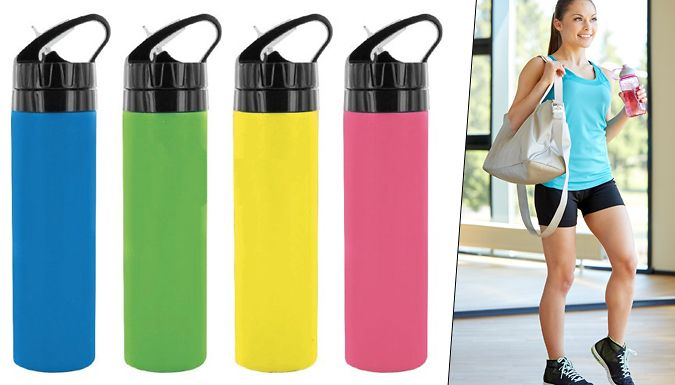 Set of 3 Squeeze Sports Bottles Stay hydrated with aSet of 3 Squeeze Sports Bottles      Created from soft touch silicone thats flexible when empty and hard when filled      Lightweight and durable 700ml bottle is ideal for sports.      Heat and cold resistant means it can even be stored in the freezer for ice cold drinks      Available in red, yellow, green or blue - colours are sent at...