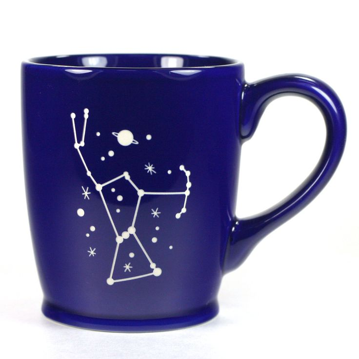 Orion is my favorite shining star constellation. This large, sturdy coffee mug comes in tangerine orange, navy blue, sky blue or celery green. Large ceramic coffee mugs - - dishwasher-safe, microwave-