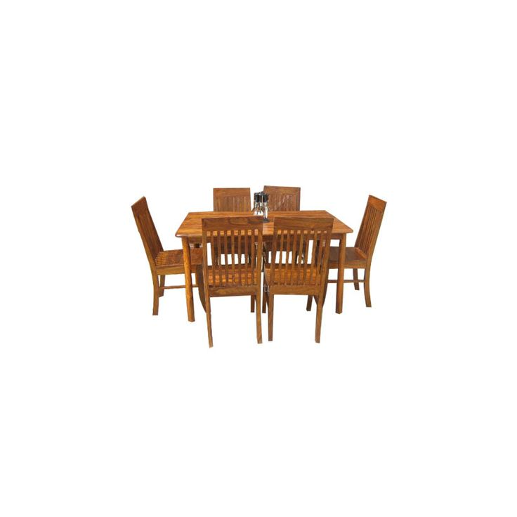 7 pezzi Legno di sheesham Set da pranzo DSS-250152 X 91 X 76 CM | Arts of India – Italy