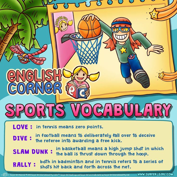 Hi Girls ^^ Let's learn English! :) I would like to learn about sports vocabulary :) Have you heard about these words? ^^ Love, Summer <3 #surfergirl #positivedifference #englishcorner