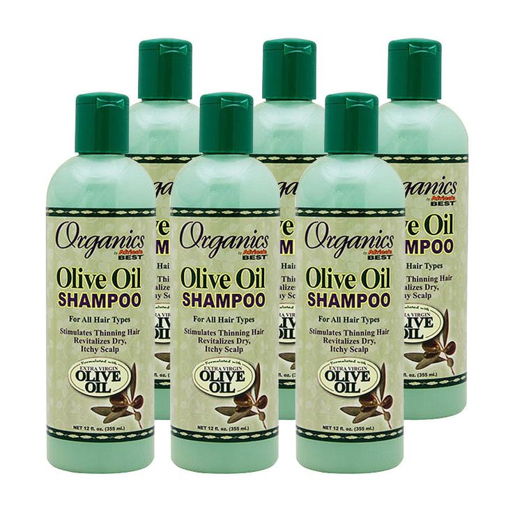 6Pcs Africa'S Best Organics Olive Oil Shampoo All Hair Type For Itchy Scalp 12Oz