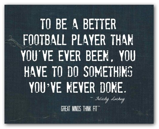 Football Motivational Quotes: 25+ Best Inspirational Football Quotes On Pinterest