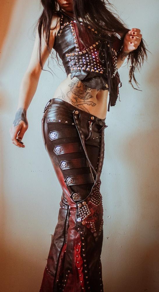 TOXIC VISION studded Warrior pants — Toxic Vision