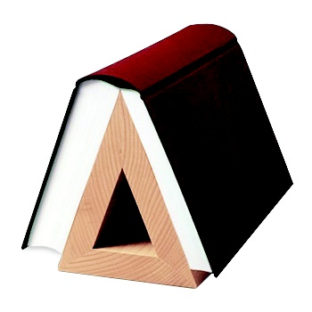 A triangle bookmark.