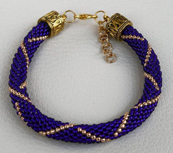 Armband mit Perlen japanischen TOHO häkeln Schmuck von Mulinka