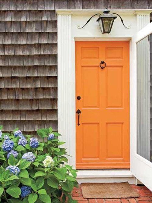 17 mejores ideas sobre pintura de la puerta principal en for Colores para puertas exteriores