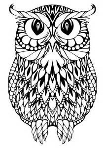 difficult owl colouring pages - Owl Coloring Pages For Adults