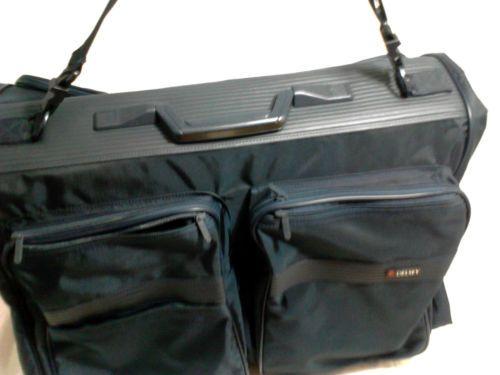 Delsey Hanging Garment Bag Bi Fold Travel Bag Carry on Blue