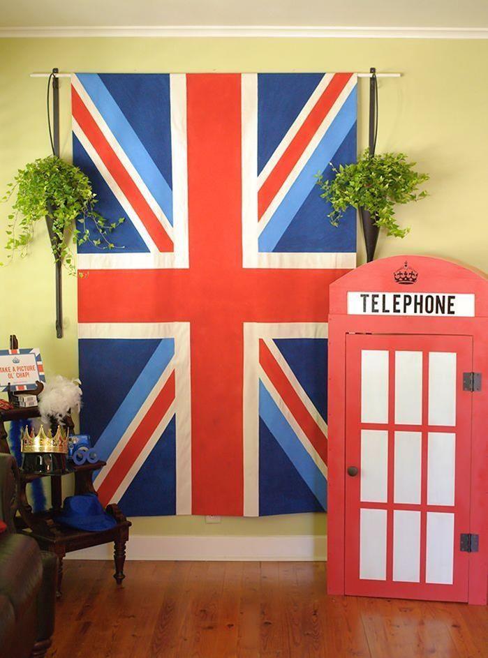 """London Calling""- A British Themed Birthday Bash via Kara's Party Ideas   Kara'sPartyIdeas.com"