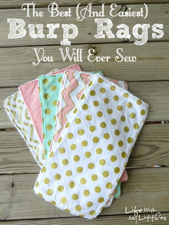 The simplest (and best) burp you'll ever sew: this is really the easiest …   – Baby