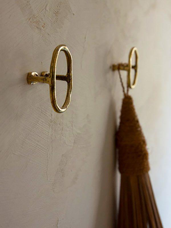 Brass Wall Hook Door Pull Or Curtain Tie Back Designed By Mi Gei