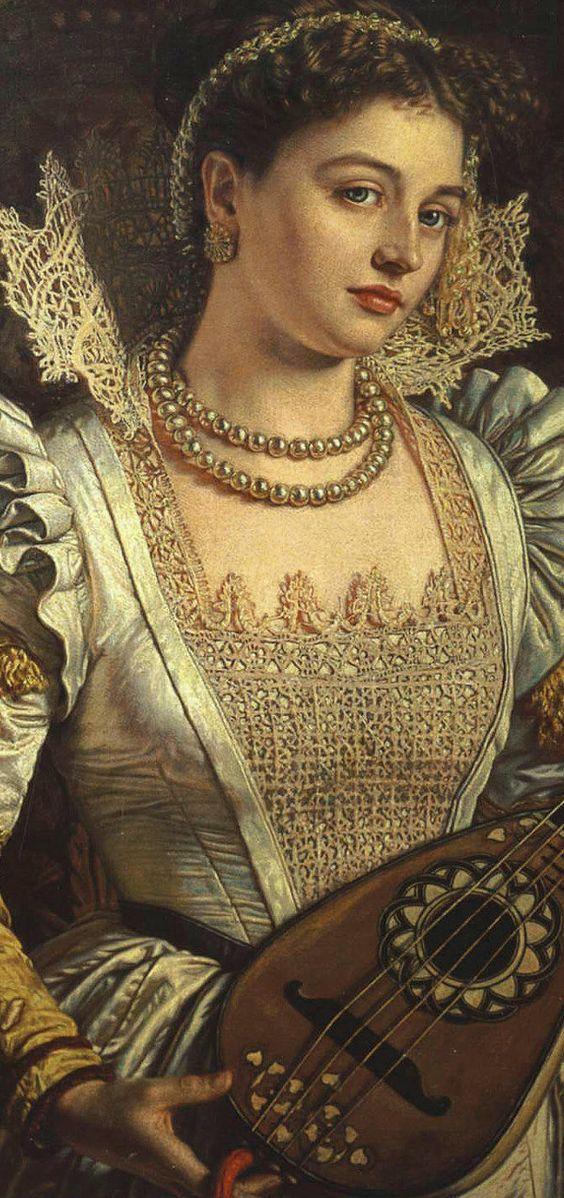 Arte,Pintura,Lady Bianca,William Holman Hunt,Detail,1876,Blog do Mesquita XXX www.mesquita.blog.br ins xxx