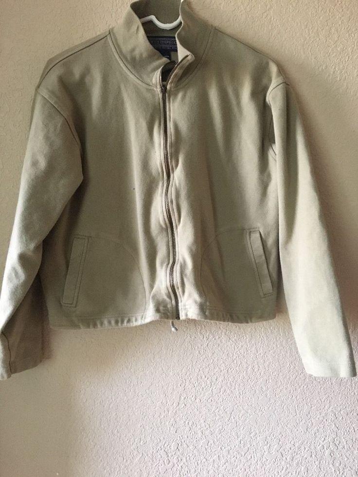 Newtown Trading co womens  green zip up light sweater M #newtontradingco #jacket