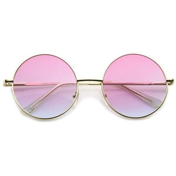 Retro Hippie Oversize Round Color Gradient Lens Sunglasses 9578 (£8.31) ❤ liked on Polyvore featuring accessories, eyewear, sunglasses, glasses, oversized circle sunglasses, hippie sunglasses, round hippie sunglasses, round metal sunglasses and circle glasses
