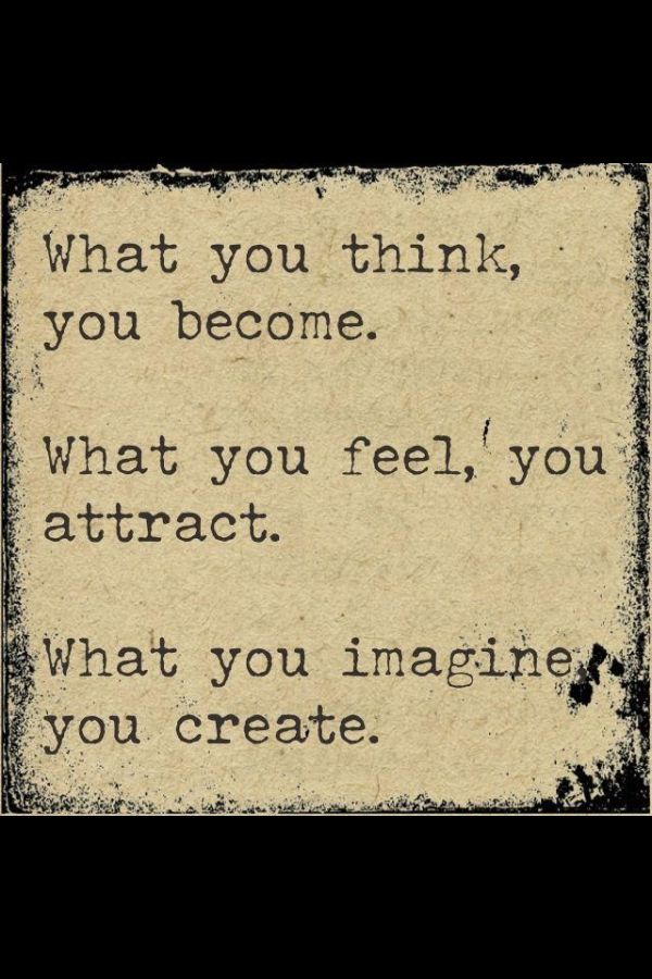 Buddha Quote Law of Attraction/You become what you believe by liza cake