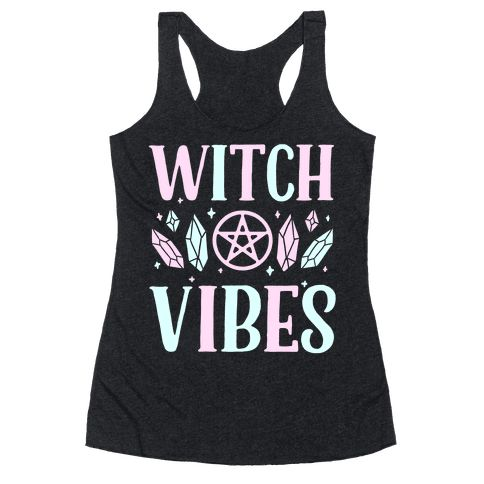 Witch Vibes - This witch shirt is perfect for crystal witches, pagans and wiccans who just love the powerful gothy witch aesthetic because darkness is beautiful. This occult shirt is great for fans of punk shirts, occult aesthetic and pastel punks.