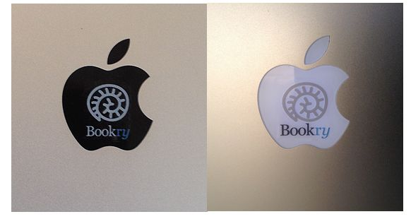 New Bookry Vinyl Stickers for Mac and iPad. Visit us at the Frankfurt Book Fair to get yours!