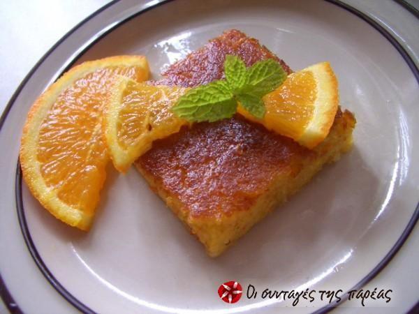 Orange pie without filo #cooklikegreeks #orangepie #fruitcake