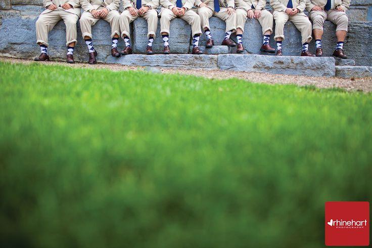 fun socks for the groomsmen!!!!  State Collage Wedding Photographer- Penn state wedding photographer, penn state nittany lion shrine, wedding photography