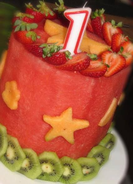 bolo de frutas - melancia