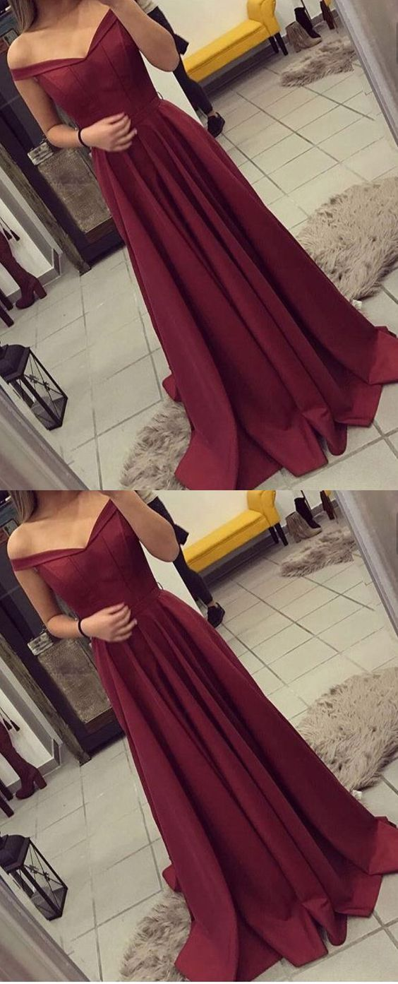 Sexy Prom Dresses,Wine Red Prom Dresses,Elegant Prom Dresses,Burgundy prom Dresses,Satin Prom Dresses,Long Prom Dresses,Off the Shoulder Graduation Dresses,Cheap Prom Dresses