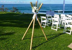 Bamboo Teepee - Wedding Knights