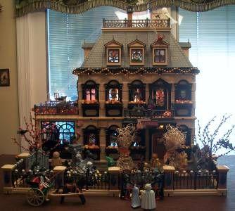 Victorian Playmobil Haunted Mansion Halloween OOAK dollhouse doll ...