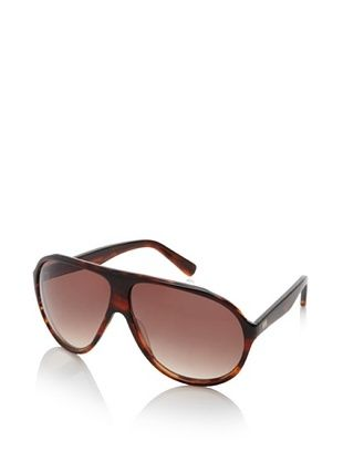 Gotz Switzerland Men's Aviator Sunglasses, Brown Marble, One Size