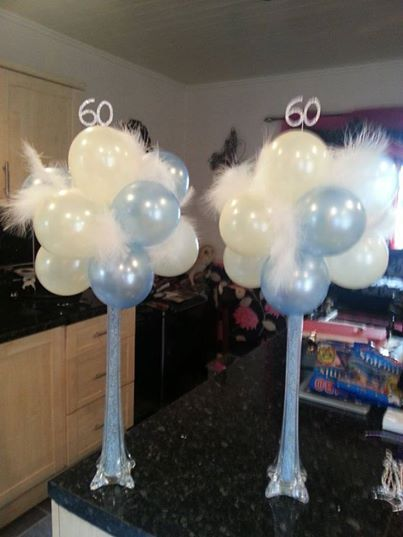 Balloon trees with vase stem decorations