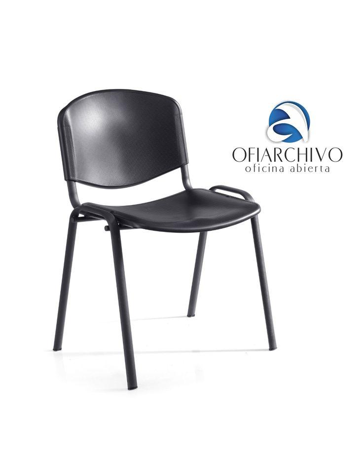 Silla Isoscele Polipropileno Ofiarchivo - Negro