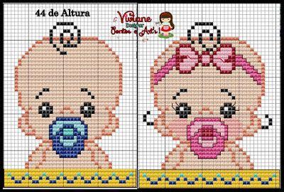 Babies pattern by Viviane Pontos e Art's